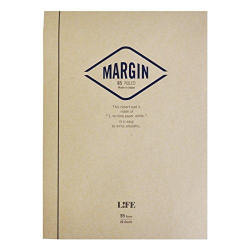 ライフ レポート用紙 マージン B5 横罫 R762