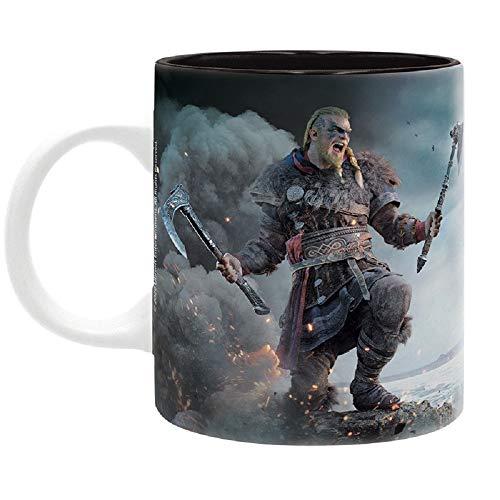 Assassins Creed - Tasse Kaffeebecher - Viking and Valhalla Logo War - keramik - Geschenkbox