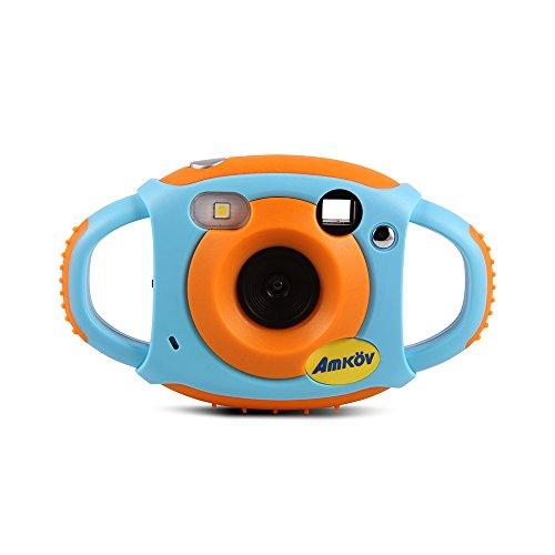 Docooler Amkov Digital Kamera für Kinder Maximales Pixel 5 Millionen Camcorder Eingebaute Lithium-Batterie Geschenk und Spielzeug Blau