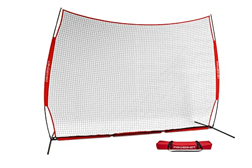 PowerNet 12 ft x 9 ft Sports Barrier Net   108 SqFt of Protection   Safety Backstop   Portable EZ...