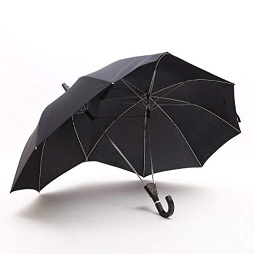 Umbrella YHYYU Winddicht Wasserdicht Paar Regenschirme Zwei Personen Stockschirm Extra Groß 16 Rippen Sonnenschirm Automatisches Öffnen Geschenk Für Liebhaber,Black