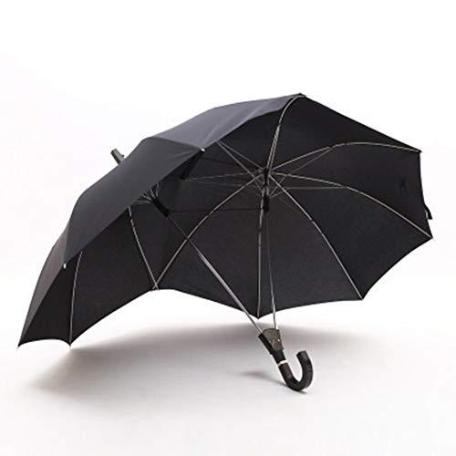 Umbrella Winddicht Wasserdicht Paar Regenschirme Zwei Personen Stockschirm Extra Groß 16 Rippen Sonnenschirm Automatisches Öffnen Geschenk Für Liebhaber,Black