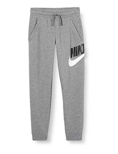 NIKE B NSW Club + Hbr Pant Pantalones de Deporte, Niños, Carbon Heather/Smoke Grey, XS