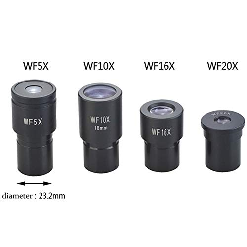 Kyt-my Biologisches Mikroskop-Okular WF5X WF10X WF15x WF16x WF20x WF25X Mikroskop Objektivzubehör Weitwinkelobjektiv monokulare Okulare (Color : 1set 5X 10X 16X 20X)