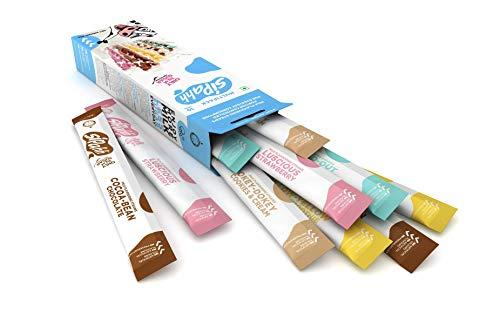 Milcharoma Strohhalme Sipahh 10er Pack - Schokolade und Erdbeere - 50% weniger Zucker als andere Milchstrohhalme. (Schokolade, Erdbeere, Banane, Schokoladen-Minze & Kekse-Creme)