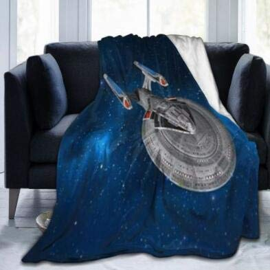 Decke StarTrek 1701E Starry Space Soft Fleecedecke Decke Stadiondecke Warm 102X127Cm