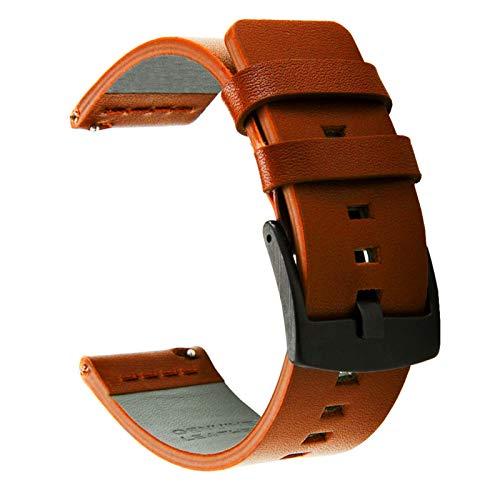 JWWLLT Correa de Cuero, Adecuada para o Compatible con Samsung Galaxy Watch Active 2 40 / 44mm Gear Sports Wrist Watch Strap 20mm Strap Samsung Active 2 3 42mm Correa