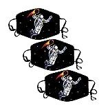 3pc Papá Noel de Bandanas Respirable Polaina de cuello Elástico Multifuncional Wicking Pañuelo Estampado Papá Noel, Reutilizable, 𝐌𝐚𝐬𝐜𝐚𝐫𝐢𝐥𝐥𝐚𝐬 facial de tela de algodón reutilizable