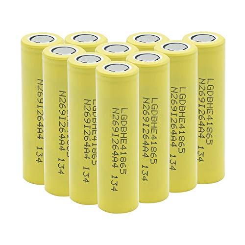 WSXYD Batería Recargable 18650 He4 del Alto Drenaje De 3.7v 18650 2500mah 35a, para El Banco del Poder De La Antorcha De La Linterna 10Pcs
