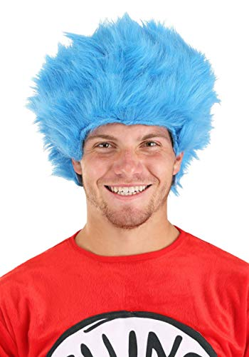 Dr. Seuss Thing 1 & Thing 2 Blue Fuzzy Costume Wig