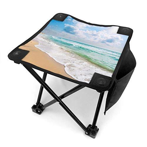 End Nazi Chaises Pliantes de Tabouret de Camping Blue Sky Beach Sea Wav Siège de Chaise Portable