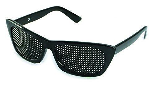 Lunettes noires à grille carrée 415-FSP-Avec accessoire-