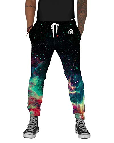INTO THE AM Space Fade Men's Fleece Joggers Casual Sweat Pants (Small)