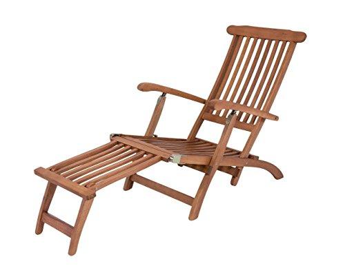 Garden Pleasure Deckchair PHOENIX abnehmbares Fußteil