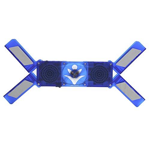 Soporte para disipador de Calor para computadora portátil DR-2009, Base de Enfriador de 2 Ventiladores Transparentes, Plegable y retráctil, con luz Azul LED y Altavoz Ajustado.