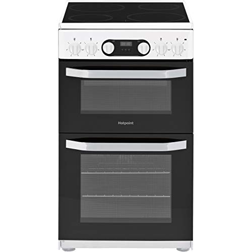 Hotpoint HD5V93CCW 50cm Double Oven Electric Cooker With Ceramic Hob - White