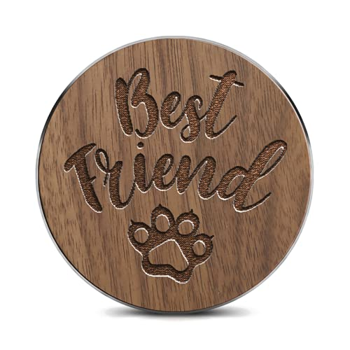 Maximum 15W Wireless Charger, Ultra-Thin Kitty Best Friend Wooden Fast Charging pad, Suitable for Fast Charging of iPhone 8+ Series, Samsung Galaxy20+ Series, etc. (no AC Adapter)