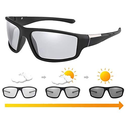Tixiyu Gafas de sol fotocromáticas para hombre, antideslumbrante, protección UV400, para deportes al aire libre, para conducción diurna y nocturna, ciclismo, esquí, golf, correr, ciclismo, pesca
