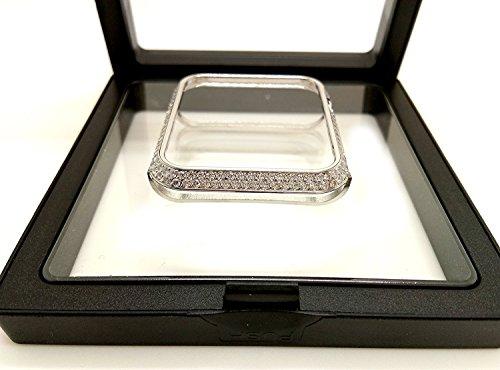Piixy Bling-Bling Diamonds Metal Bisel Carcasa para Apple Watch iWatch S1/S2/S3 Sports&Edition No Cerámica Versión El tamaño más pequeño 38 mm y 42 mm
