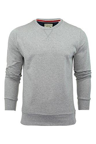 Mens Sweater Jumper Brave Soul 'Jones' Crew Neck Light Grey Mediu