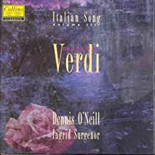 Verdi 16 Asstd.Songs. Dennis O'neill Tenor W.Ingrid Surgenor Piano