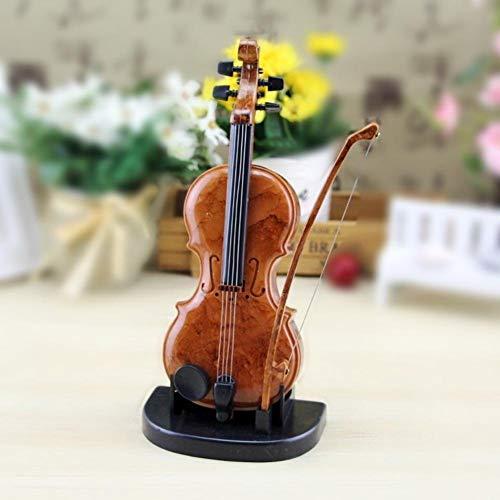 Caja de música con forma de violín, ensamblaje de personalidad Mini caja de música de plástico Caja de música con forma de violín con base Regalos de cumpleaños para niños Niñas, Decoración para la ti