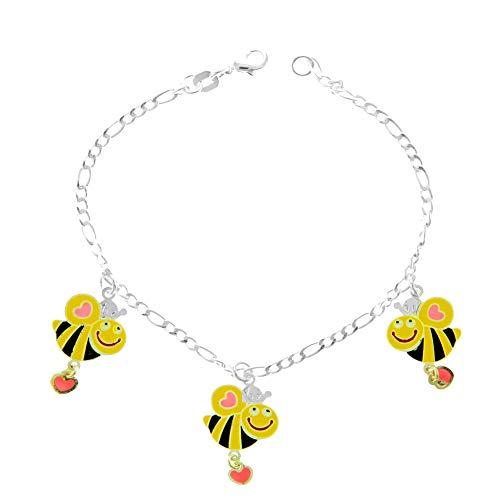 Córdoba Jewels | Pulsera en Plata de ley 925 con diseño Abeja Love