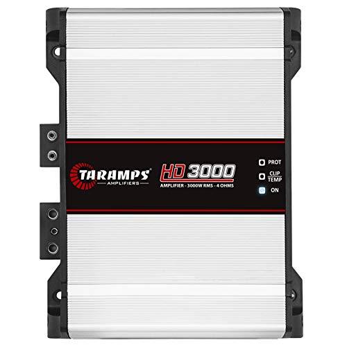 Taramps 900890 Class D HD 3000 Watt RMS 4 Ohms Automotive Sound Systems Mono Full Range Speaker Amplifier with Built In Thermal Management Fan