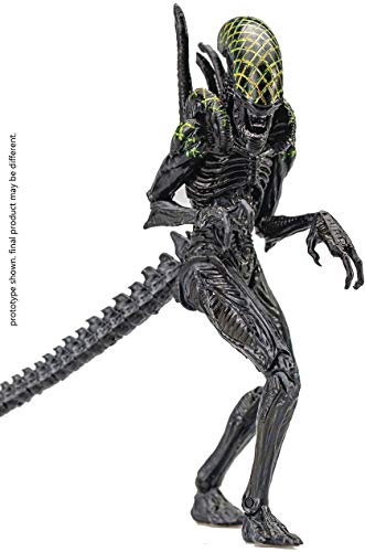 Hiya Toys Alien vs. Predator: Grid Alien 1:18 Scale Action Figure, Multicolor