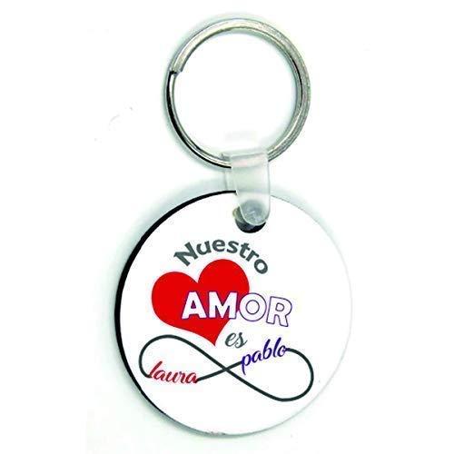 Kembilove Llaveros Personalizados Parejas - Novio, Novia, Marido, Mujer, Llavero Personalizado Nuestro...
