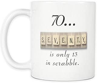 70th Birthday Mug, Scrabble Mug, 70th birthday Gift, 1948 Birthday Mug, 70 Bday Gift, Aging Humor Gift, 70 Birthday Present Board Game Mug