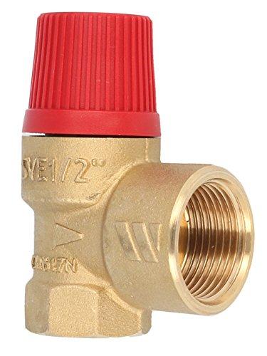 """Membran Sicherheitsventil für geschlossene Heizungsanlagen 3 bar, bis 50 kW, E 1/2\"""" - A 3/4\"""""""