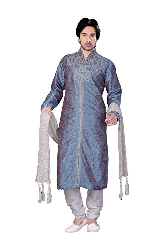 Fashions Biz Fashions Biz Eye-catching Art Art Dupin Silk Fabric Light Blue 2 TON Color Readyma