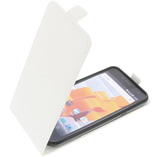 foto-kontor Tasche für Wileyfox Spark Spark Plus Smartphone Flipstyle Schutz Hülle weiß
