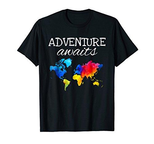 Travel TShirt Wanderlust World Map Adventure Traveler Gift T-Shirt