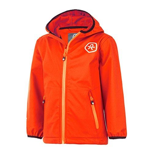 Color Kids Barkin Veste en softshell pour enfant Air-Flo 8000, coloris corail flamboyant - Orange - 12 ans