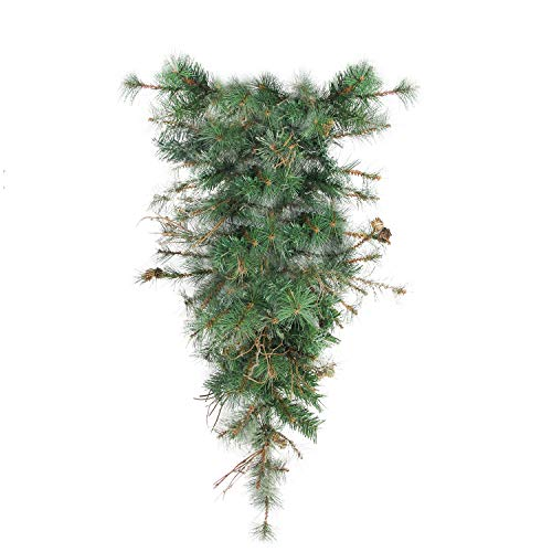 """Northlight 36"""" Country Mixed Pine Artificial Christmas Teardrop Swag - Unlit"""