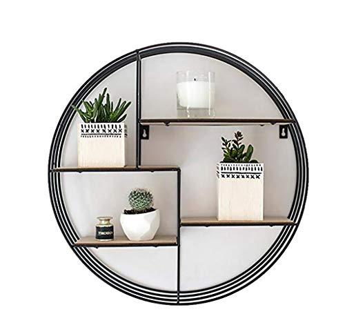 Art de ijzeren rek, Scandinavisch, minimalistisch, rond, woonkamer, ijzer, wandrek, decoratief, robuust, badkuip, plank 80 * 20