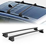 BUNKER INDUST Car Roof Rack Cross Bars Compatible with 2011-2021 Jeep Grand Cherokee with Grooved Side Rails, Aluminum Rooftop Cargo Luggage Carrier Baggage Kayak Canoe Bike Snowboard Skiboard
