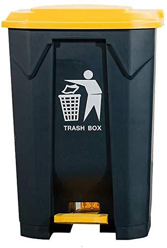 WYJW Grote vuilnisbak - Dubbele Gelaagde Rechthoekige en Duurzame Plastic Vloer Keuken Kantoor Winkelcentrum Grote Vuilnisbak (Maat: 80L)