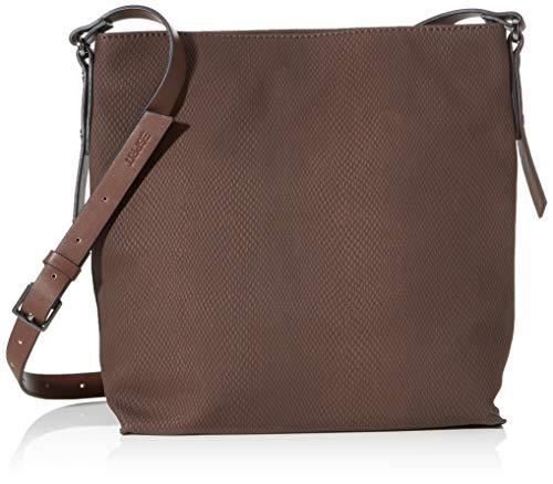 Esprit Accessoires Damen Tasha_shoulbag Umhängetasche, Braun (Dark Brown), 9x27,5x25 cm