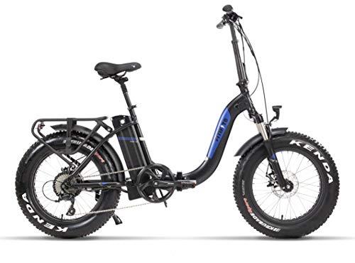 41TD8tJu0EL - Fitifito klappbar Fatbike FT20 20 Zoll Elektrofahrrad Fatbike E Bike Pedelec 48V 250W Bafang casstte Heckmotor 9 Gang Shimano Schaltung