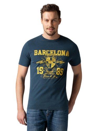 Bogner Fire + Ice Herren T-Shirt Fabio, océano, M, 8427-2507