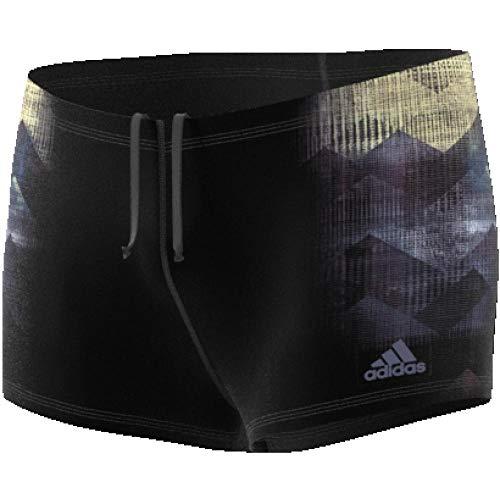 adidas Herren Graphic Boxer-Badehose, Black/Traroy, 37