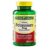 Potassium Caplets for Heart, Nerve & Muscle Function, Bundle w/ 'No Fluff' Supplement Guide©
