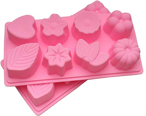 WARMBUY Silicone Molds for Bath Bomb Soap Chocolate Candy Making, 2 Pack
