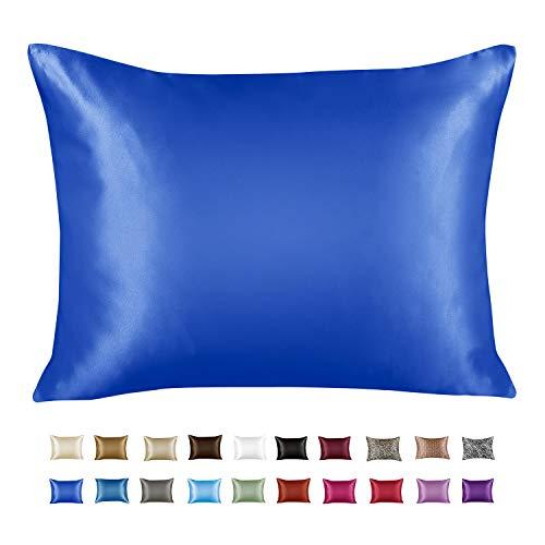 ShopBedding Luxury Satin Pillowcase for Hair – Queen Satin Pillowcase with Zipper, Royal (1 per Pack) – Blissford