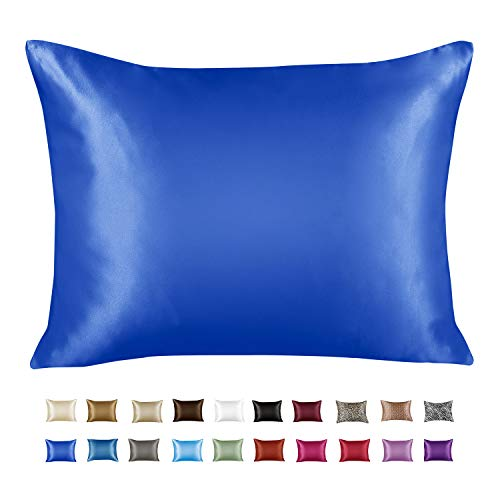 ShopBedding Luxury Satin Pillowcase for Hair – Standard Satin Pillowcase with Zipper, Royal (1 per Pack) – Blissford
