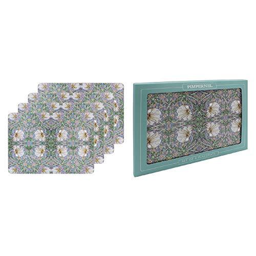 The Leonardo Collection William Morris Pimpernel Lot de 4 sets de table dans une boîte cadeau