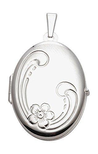 Medaillon, Anhänger, Kettenanhänger aus 925 Sterling Silber